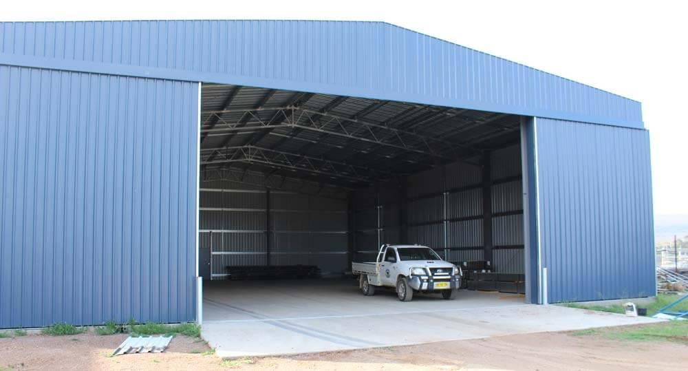 Open Steel Shed