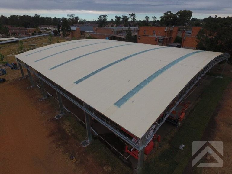 Curved Roof COLA Aerial View