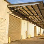Large cantilever awning